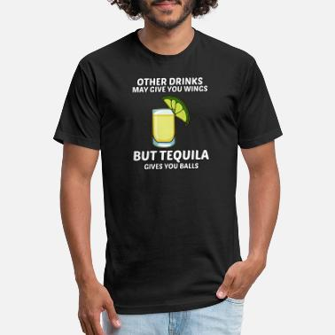Beachparty Tequila gives you balls - BEACHPARTY - Unisex Poly Cotton T-Shirt