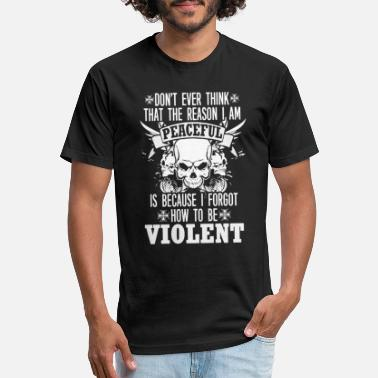 Stasi Violent hater - Reason I am peaceful - Unisex Poly Cotton T-Shirt