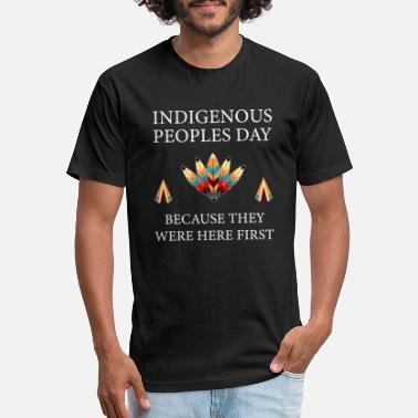 Indigenous Peoples Day Not Columbus Day Gift - Unisex Poly Cotton T-Shirt