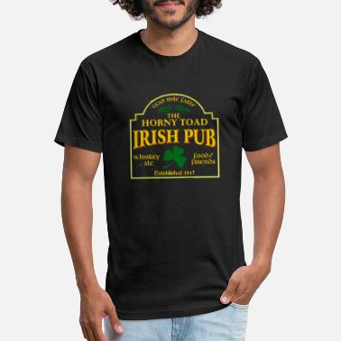 Pub irish pub THE HORNY TOAD - Unisex Poly Cotton T-Shirt