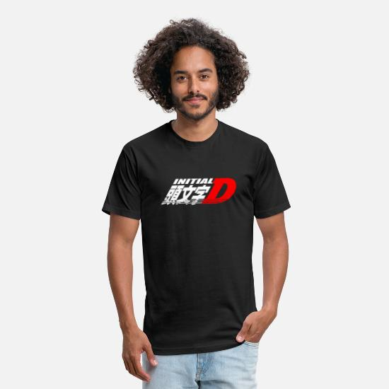 Japanese T-Shirts - Initial D - Unisex Poly Cotton T-Shirt black