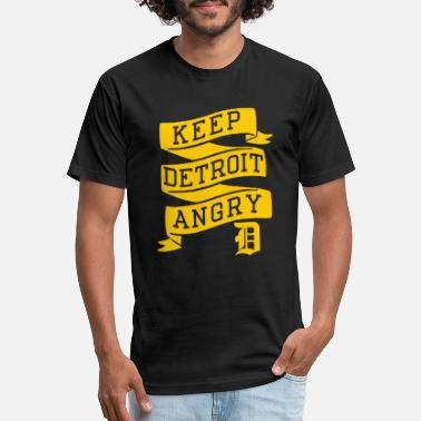 Down With Detroit Detroit - Keep Detroit Angry - Unisex Poly Cotton T-Shirt