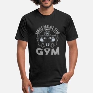 Dumbbells Meet Me At The Gym - Unisex Poly Cotton T-Shirt