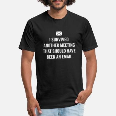 Meeting I Survived Another Meeting - Unisex Poly Cotton T-Shirt