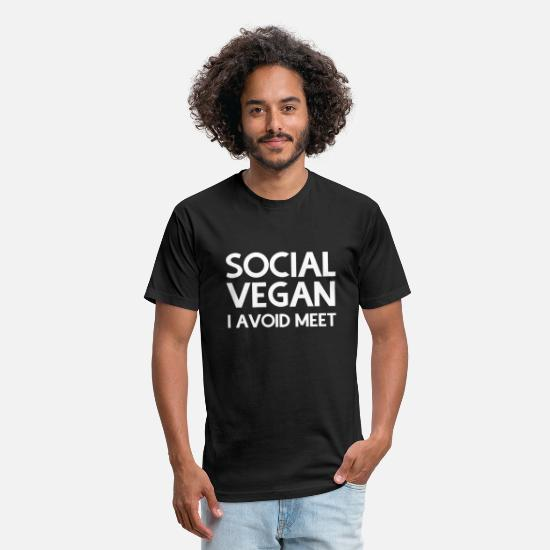 Vegan T-Shirts - Vegan - Social vegan - Unisex Poly Cotton T-Shirt black