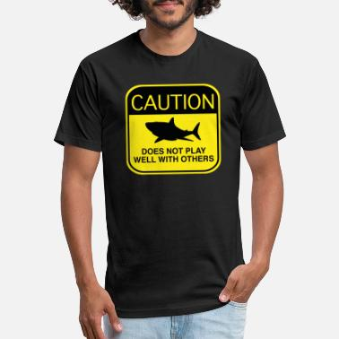 Does Caution - Does Not Play Well With Others - Unisex Poly Cotton T-Shirt