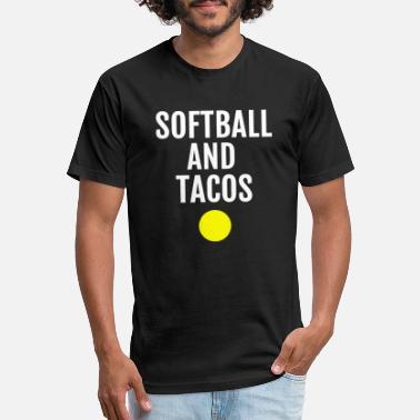 5908af57 Softball Funny Softball - softball and tacos funny softball - Unisex Poly  Cotton T-Shirt