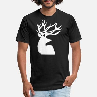 Deer Head Deer Head - Fitted Cotton/Poly T-Shirt by Next Level