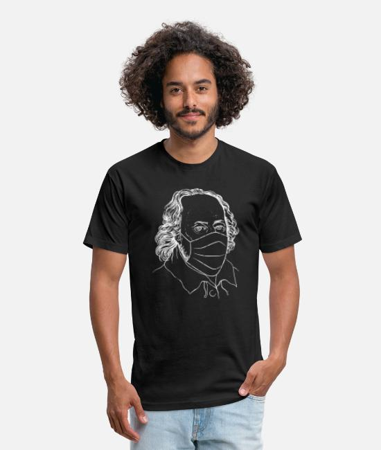 Shakespeare Mask T-Shirts - Shakespeare mask quarantine 2020 - Unisex Poly Cotton T-Shirt black