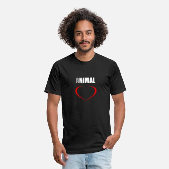 Love T-Shirts - animal love - Unisex Poly Cotton T-Shirt black