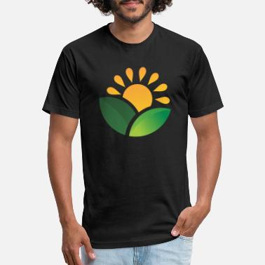 Obscure Sunrise Obscured Leaves - Unisex Poly Cotton T-Shirt