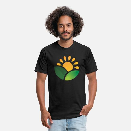 Birthday T-Shirts - Sunrise Obscured Leaves - Unisex Poly Cotton T-Shirt black