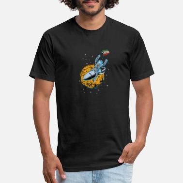Iran Astronaut Space Flag Iran - Unisex Poly Cotton T-Shirt