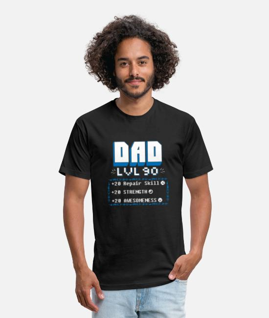 Daddys Little Gamer T-Shirts - Gamer - funny dad video games gamer nerd daddy - Unisex Poly Cotton T-Shirt black