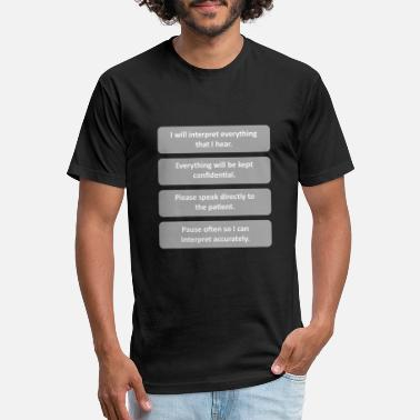 Translation Presession - White wGray boxes - Unisex Poly Cotton T-Shirt