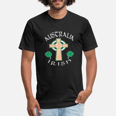 Australia Irish Ireland Proud Irish Pride Celtic Cross Australia - Unisex Poly Cotton T-Shirt