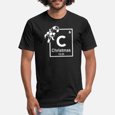 Periodic Table Of Cartoons Christmas Periodic Table Of Elements - Unisex Poly Cotton T-Shirt