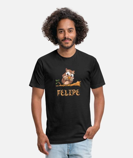 Felipe Birth T-Shirts - Felipe Owl - Unisex Poly Cotton T-Shirt black