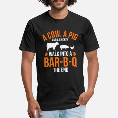 Bbq Funny Barbecue Joke - Unisex Poly Cotton T-Shirt
