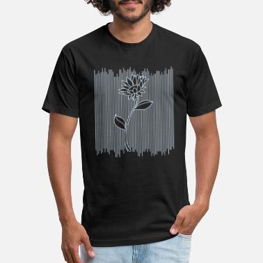 Abstract Abstract Sunflower Flower Lines Art - Unisex Poly Cotton T-Shirt
