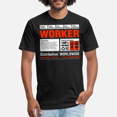Trabalhador Funny Worker Tshirt - Unisex Poly Cotton T-Shirt