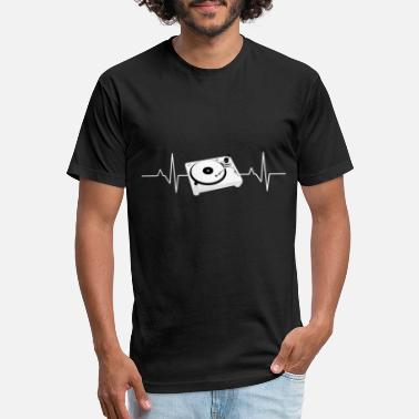 Record Player Heartbeat DJ Record Player - Unisex Poly Cotton T-Shirt