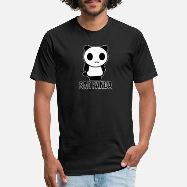 Sad Smile smile panda Sad Looking Panda No Smile Birthday - Unisex Poly Cotton T-Shirt