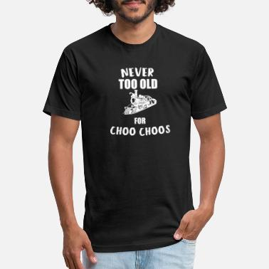 Model Railroad Never Too Old For Choos Choos - Unisex Poly Cotton T-Shirt