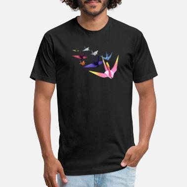 Culture Origami Paper Crane Flock - Japanese Culture Art T - Unisex Poly Cotton T-Shirt