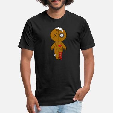 Vodoo Comic Halloween Vodoo Doll - Unisex Poly Cotton T-Shirt