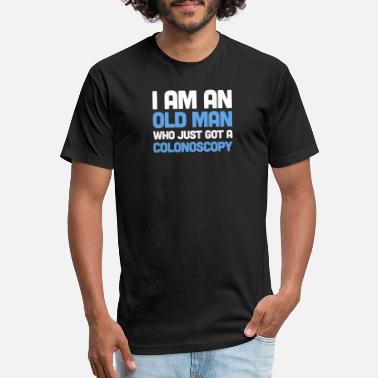 Colon Cancer Old Colon & Colonoscopy - Funny Get Well Gift - Unisex Poly Cotton T-Shirt