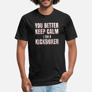 Kickboxing kickboxer sports calm - Unisex Poly Cotton T-Shirt