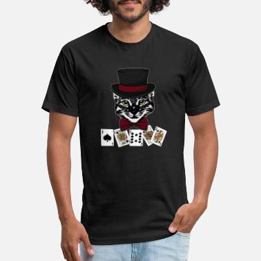 Arcade Poker Gambling Gambling Dice Gambling Cat Gift - Unisex Poly Cotton T-Shirt