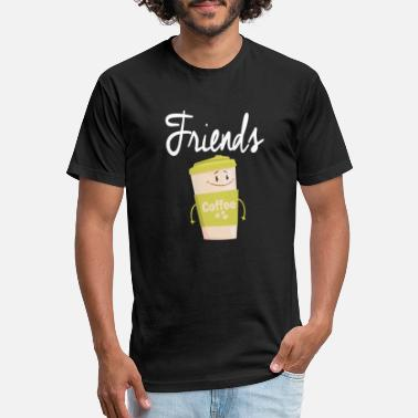 Funny Friends Coffee Cup Tshirt Matching BFF shirt - Unisex Poly Cotton T-Shirt