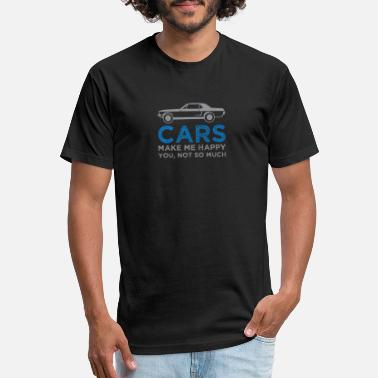 Sos Cars Make Me Happy, You not So Much - Unisex Poly Cotton T-Shirt