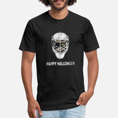 Ice Hockey Mask Halloween Ice Hockey Mask - Unisex Poly Cotton T-Shirt