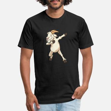 Dancing Goat Dabbing Dabbin Goat Billy Goat Tshirt Gift - Fitted Cotton/Poly T-Shirt by Next Level