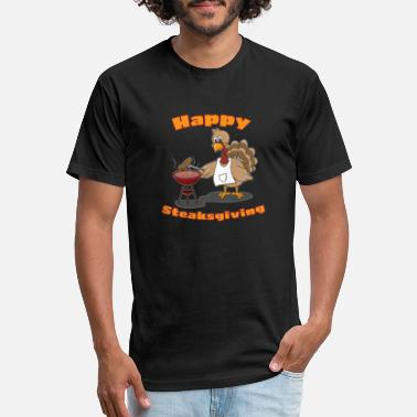 Thanksgiving Lover Happy Thanksgiving for Steak Lovers - Unisex Poly Cotton T-Shirt