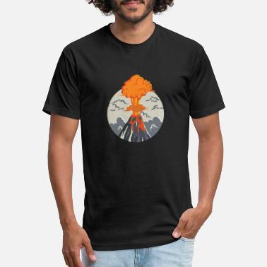 Eruption erupting volcano - Unisex Poly Cotton T-Shirt
