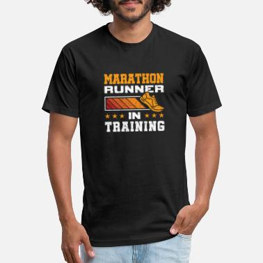 Marathon Training Marathon Runner In Training - Unisex Poly Cotton T-Shirt