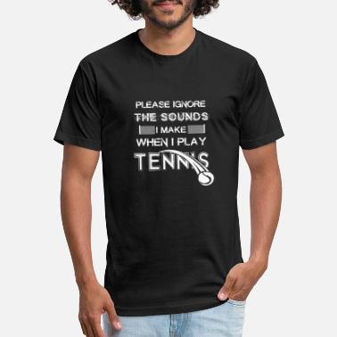Tennis Player Tennis Forehand Backhand Tennis Player - Unisex Poly Cotton T-Shirt