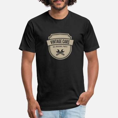 Vintage Car Vintage Cars Emblem - Unisex Poly Cotton T-Shirt