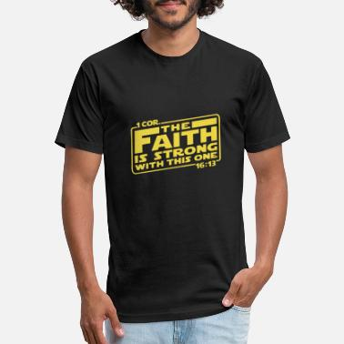Cor first cor the faith is strong with this one yello - Unisex Poly Cotton T-Shirt