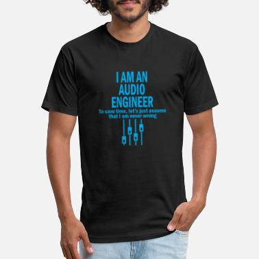 Audio engineer i am an audio engineer to save - Unisex Poly Cotton T-Shirt