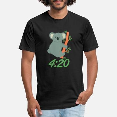 It's always 420 - Koala - Unisex Poly Cotton T-Shirt