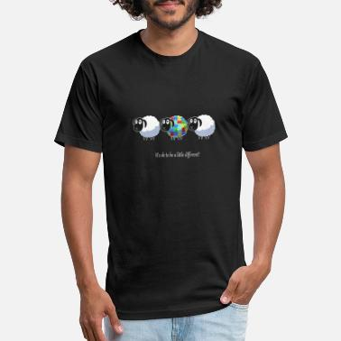 Attention Retro sheep It's okay to be a little different to - Unisex Poly Cotton T-Shirt