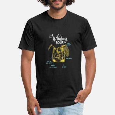 Size  L XL OLD CAMP WHISKEY Man/'s Promo Blue T-shirt Bartender