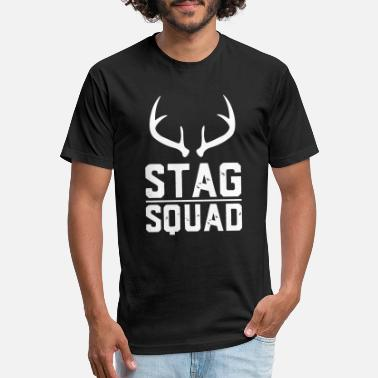 Stag Stag Squad - Unisex Poly Cotton T-Shirt