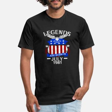 July 1981 Legends Are Born In July 1981 - Unisex Poly Cotton T-Shirt