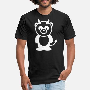 Panda Devil Devil Panda - Unisex Poly Cotton T-Shirt